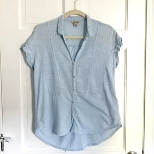 Lucky Brand Classic Blue Button Down Top
